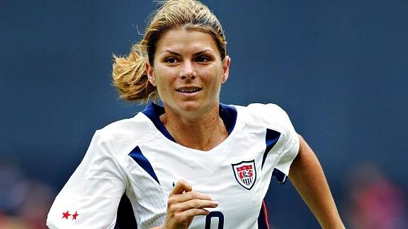Mia Hamm – American women's football legend