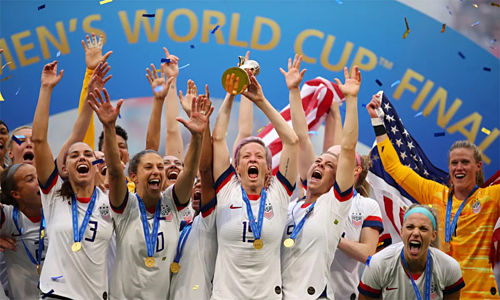 The US team won the women's World Cup 2019