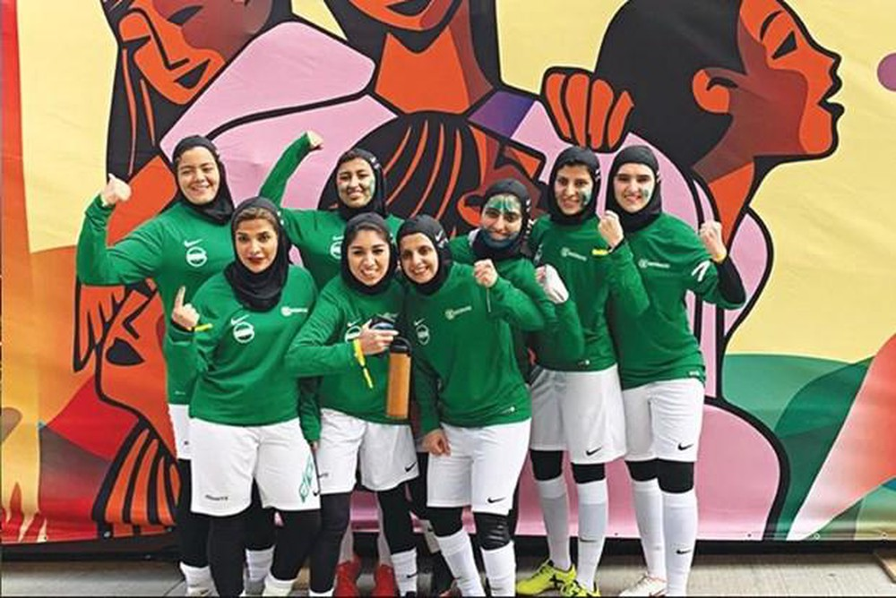 The first national women's football championship in Saudi Arabia
